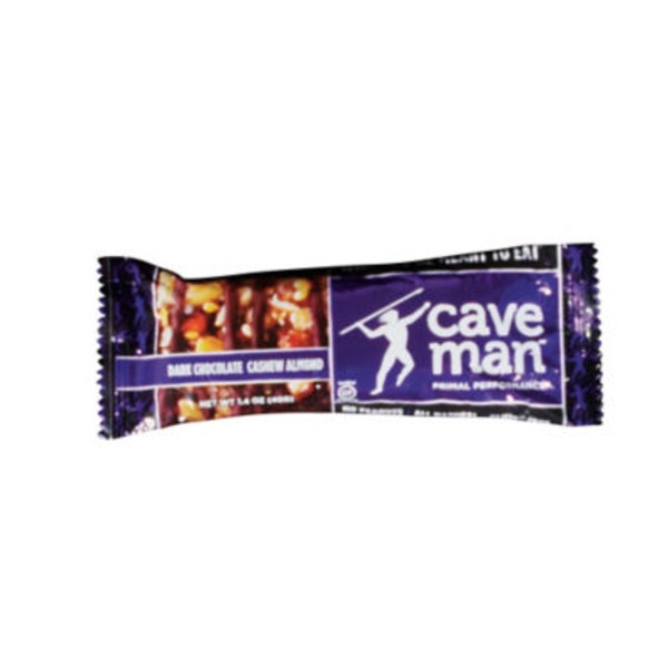 Caveman Dark Chocolate Cashew Almond Nutrition Bar