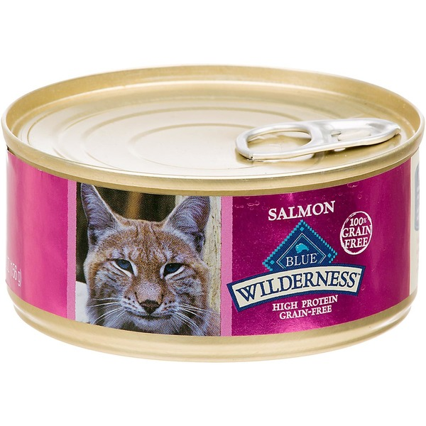 Blue Buffalo Cat Food, Moist, Salmon, Wilderness, Can