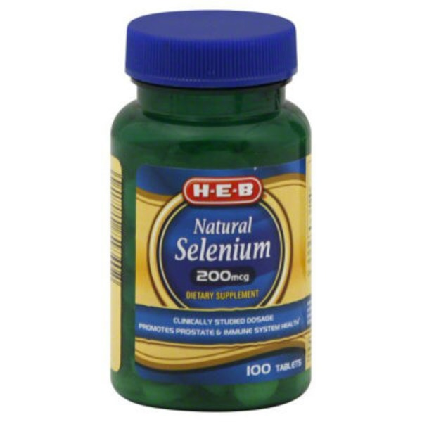 H-E-B Natural Selenium 200 Mcg Tablets