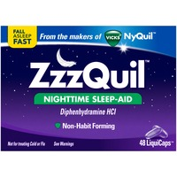 Zzzquil Nighttime Sleep Aid LiquiCaps 48 ct (Pack of 48) Misc Personal Health Care