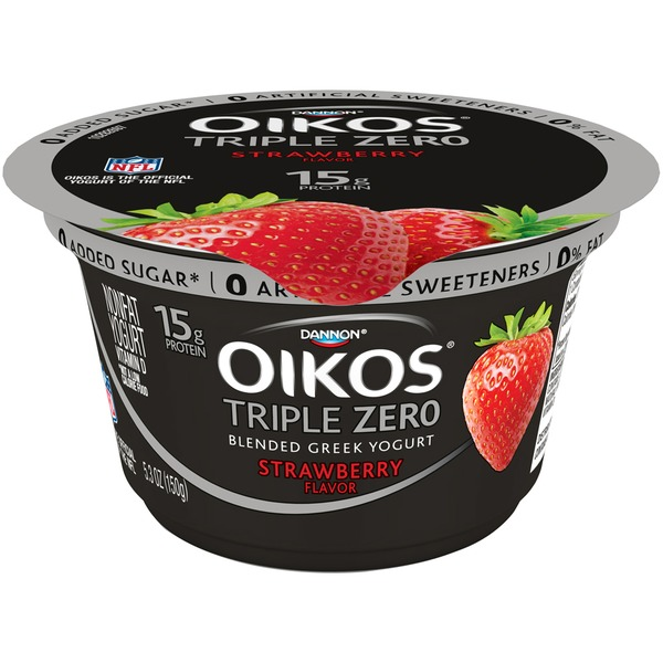 Oikos Triple Zero Blended Greek Strawberry Nonfat Yogurt