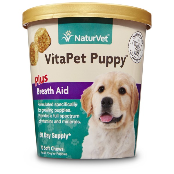 NaturVet VitaPet Puppy Daily Vitamins Plus Breath Aid Soft Chews