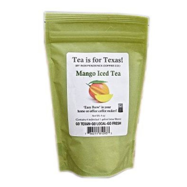 Independence Coffee Co Tea Is For Texas Mango Iced Tea Bags