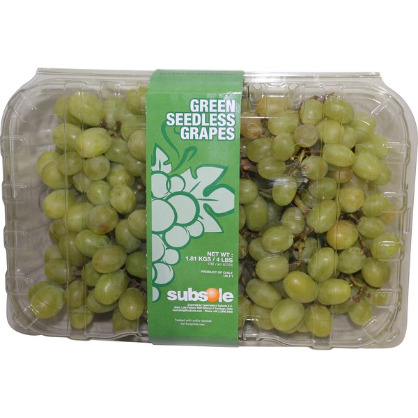 Subsole Green Seedless Grapes