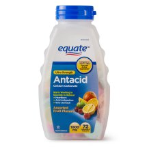 Equate Ultra Strength Antacid Chewable Fruit Tablets, 1000 mg, 72 Ct