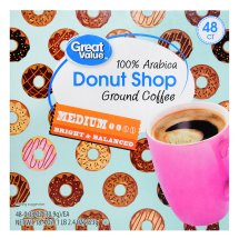 Great Value Donut Shop Medium Roast Coffee, 48 Count K-Cups