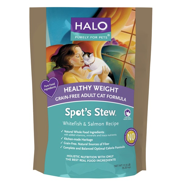 Halo Spot's Stew Healthy Weight Grain Free Whitefish & Salmon Cat Food 11.5 Lbs.