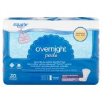 Equate Overnight Incontinence Pads for Women, Ultimate, 30 Ct