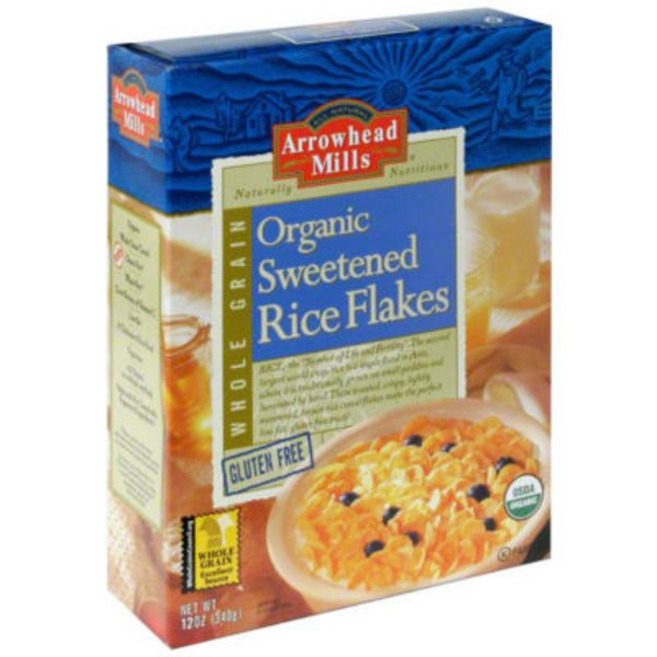 Arrowhead Mills Organic Gluten Free Sweetened Rice Flakes Cereal