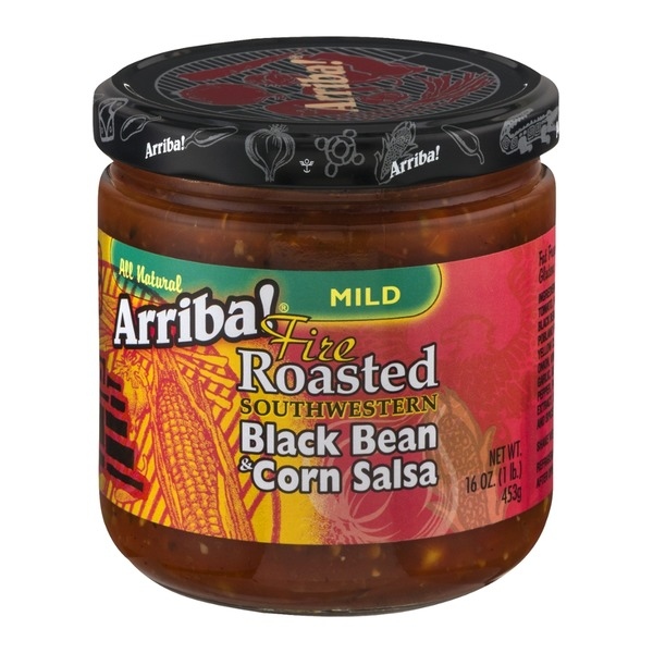 Arriba! Fire Roasted Southwestern Black Bean & Corn Salsa Mild
