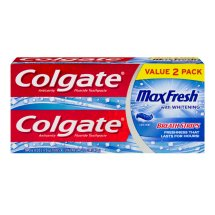 Colgate Max Fresh Toothpaste with Mini Breath Strips, Cool Mint - 6 oz Twin Pack