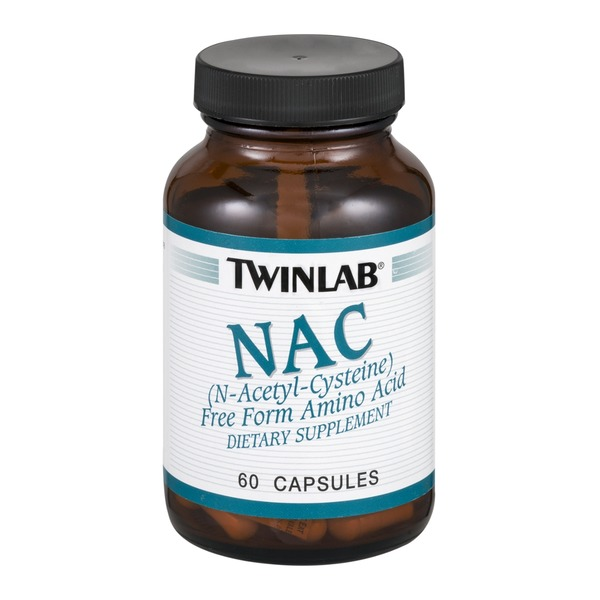 Twinlab NAC Dietary Supplement Capsules - 60 CT
