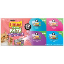 Purina Friskies Classic Pate Surfin' & Turfin' Favorites Adult Wet Cat Food Variety Pack - (32) 5.5 oz. Cans