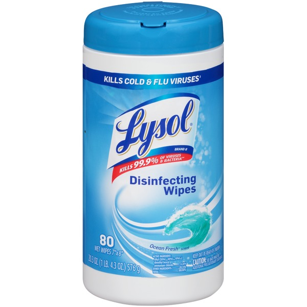 Lysol Ocean Fresh Scent Disinfecting Wipes