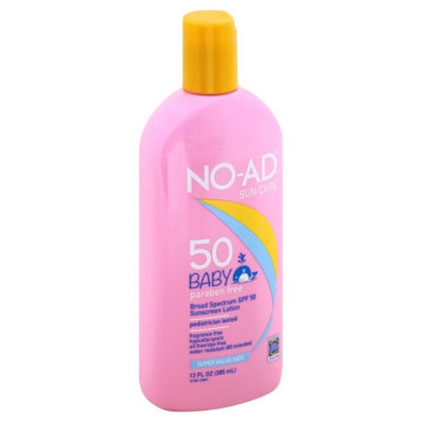 No-Ad Broad Spectrum SPF 50 Baby Lotion