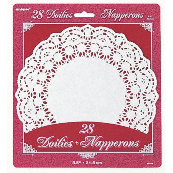 Napperons Round White Doilies 8.5