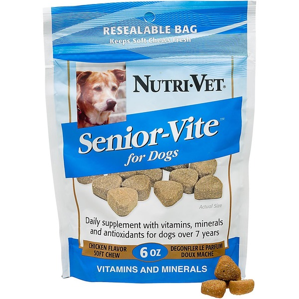 Nutri-Vet Senior Vite Daily Soft Chew Dog Vitamins