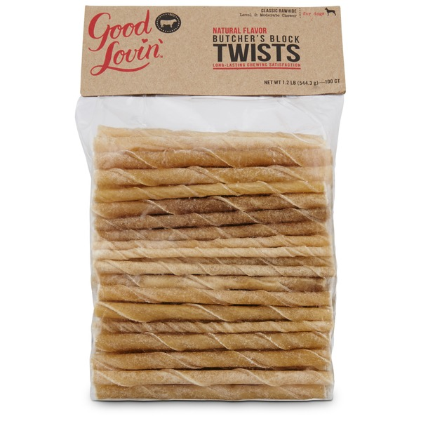 Good Lovin' Natural Flavor Twists Dog Chews 1.2 Lbs.