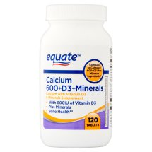 Equate 600 d calcium supplement with vitamin d & minerals, 120 ct