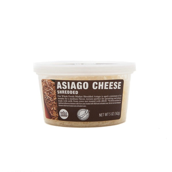 Whole Foods Market Shredded Asiago Cheese