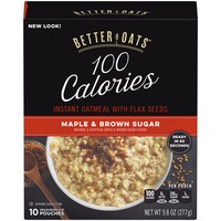 Better Oats 100 Calories Oat Fit Maple & Brown Sugar with Flax Seeds Instant Oatmeal