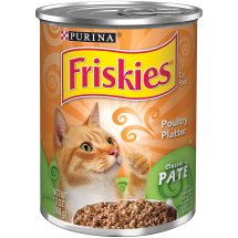Purina Friskies Classic Pate Poultry Platter Cat Food 13 oz. Can