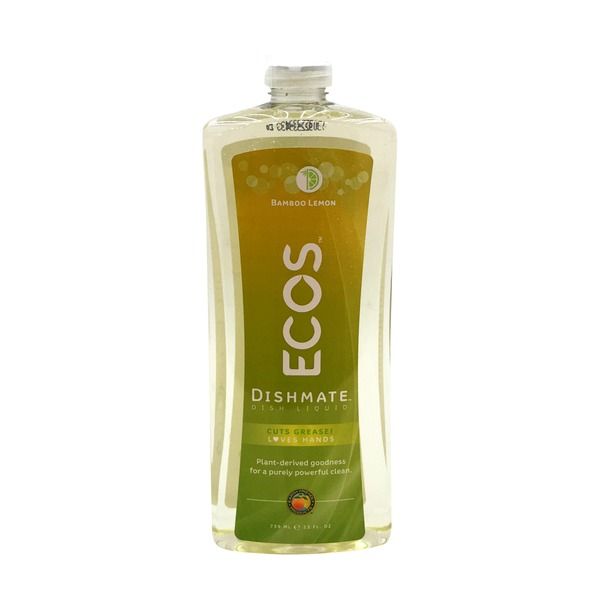 Earth Friendly Products Ecos Dishmate Bamboo Lemon