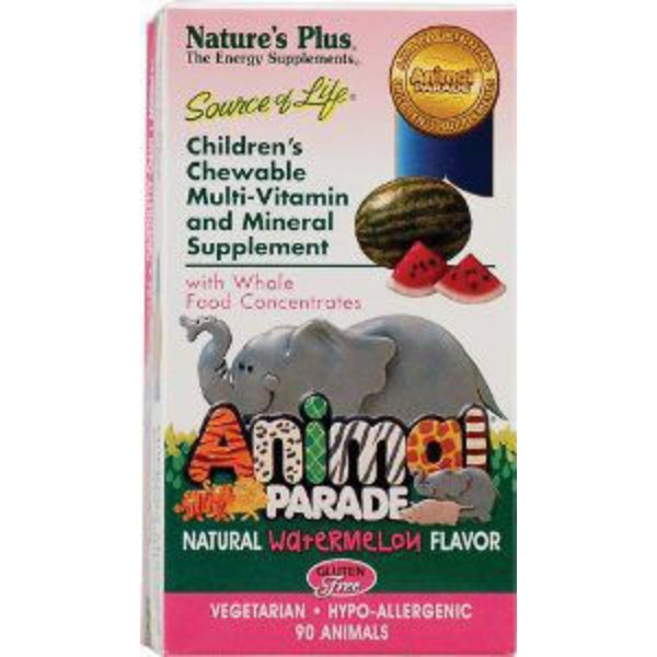 Nature's Plus Animale Parade Multi Vitamin Chewables Watermelon