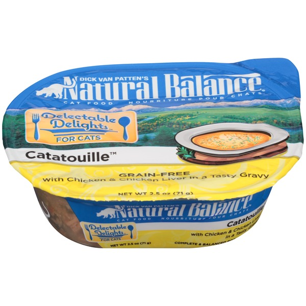 Natural Balance Delectable Delight Catatouille Grain-Free with Chicken & Chicken Liver in a Tasty Gravy Cat Food
