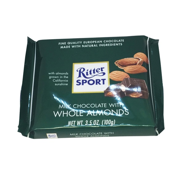 Ritter Sport With Whole Almonds Milk Chocolate