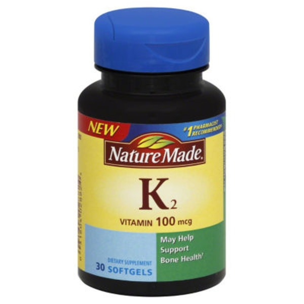 Nature Made K2 Vitamin 100 mcg Softgels - 30 CT