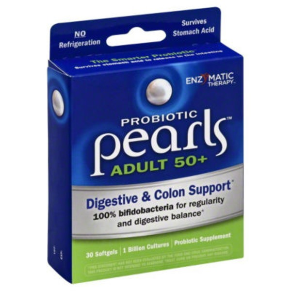 Enzymatic Therapy Adult 50+ Probiotic Pearls Softgels