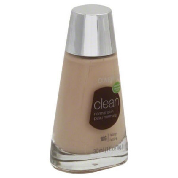 CoverGirl Clean COVERGIRL Clean Makeup Foundation, Normal Skin Ivory 1 fl oz (30 ml) Female Cosmetics