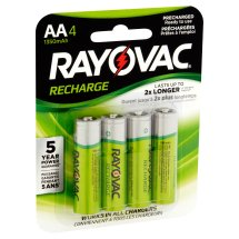 Rayovac Pre-charged Rechargeable NiMH AA Batteries, 4 ct