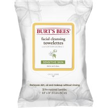 Burt's Bees Sensitive Facial Cleansing Towelettes with Cotton Extract, 30 ct