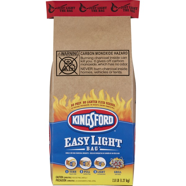 Kingsford Charcoal Briquets Easy Light Bag