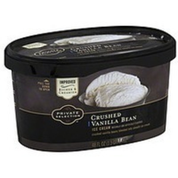 Kroger Private Selection Crushed Vanilla Bran Ice Cream