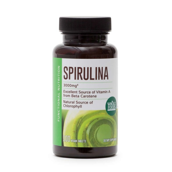 Whole Foods Market Spirulina Vegan Tablets, 3000mg