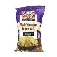 Boulder Canyon Authentic Foods Malt Vinegar & Sea Salt Kettle Cooked Potato Chips