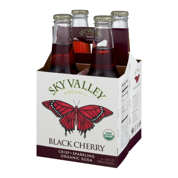 Sky Valley Organic Soda Black Cherry - 4 CT