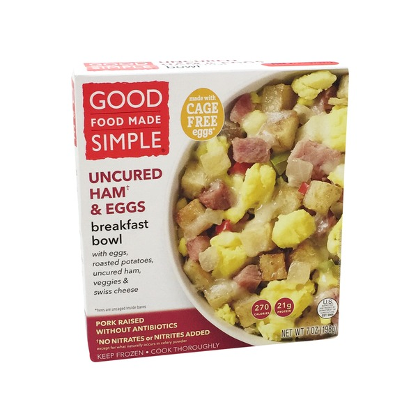 Good Food Made Simple Ham & Eggs Breakfast Bowl