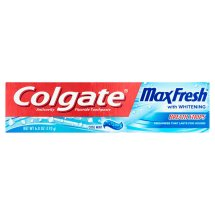 Colgate Max Fresh Toothpaste with Mini Breath Strips, Cool Mint - 6 oz