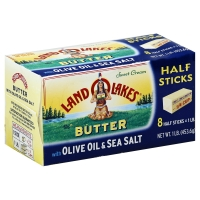 Land O Lakes Butter With Olive Oil & Sea Salt Half Sticks
