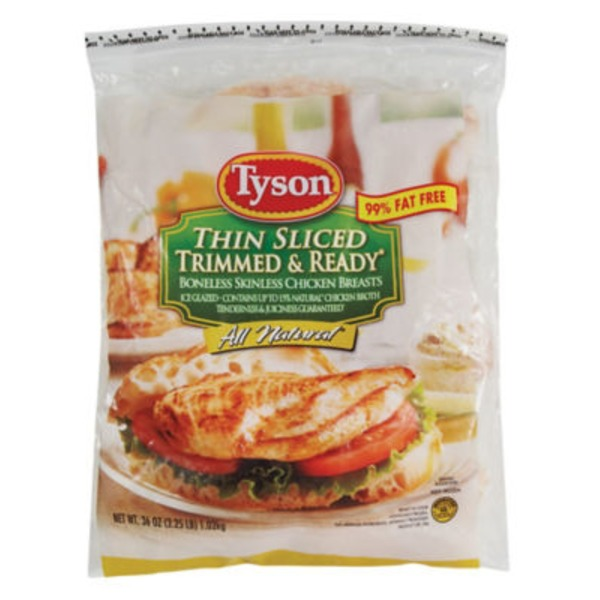 Tyson Thin Sliced Trimmed & Ready Boneless Skinless Chicken Breast