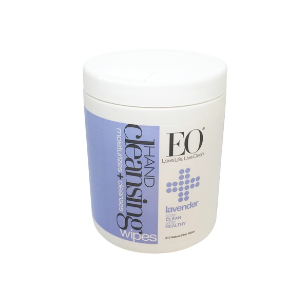 EO Hand Cleansing Lavender Natural Fiber Wipes