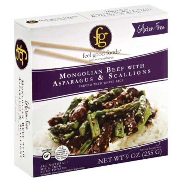Feel Good Foods Mongolian Beef With Asparagus & Scallions