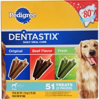Pedigree Dentastix Original/Beef Flavor/Fresh Variety Pack Large Dog Care & Treats