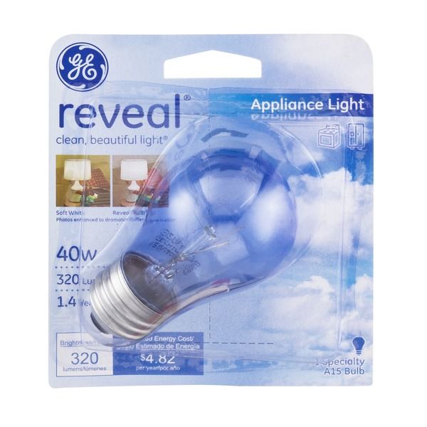 GE Reveal Appliance Light Bulb 40 Watt