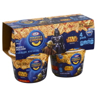 Kraft Easy Mac Cups Star Wars Shapes 4pk