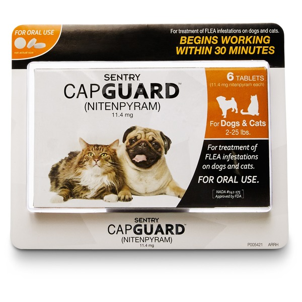 Sentry Pro Capguard Flea Tablets for Dogs & Cats 2-25 Lbs.